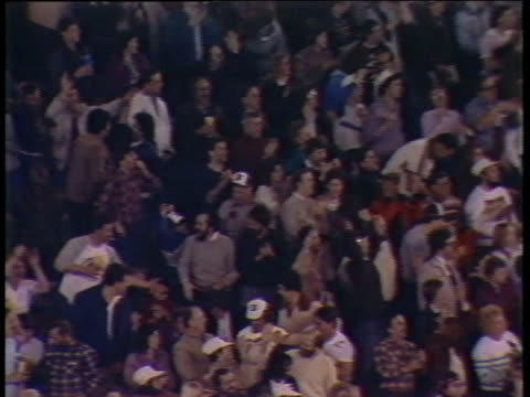 1984 ws pan usfl football fans in stands at michigan panthers vs. pittsburgh maulers/ pontiac, michigan - pontiac stock videos and b-roll footage