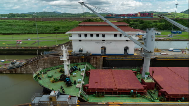 panama canal timelapse - panama canal stock videos & royalty-free footage