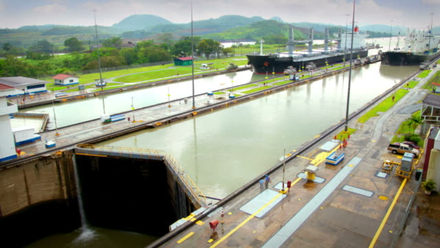 panama canal - canal stock videos & royalty-free footage