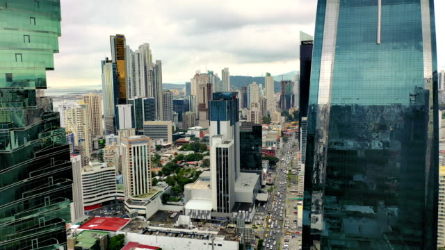 panama city aerial view of modern part of the city - latin america stock videos & royalty-free footage