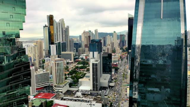 パナマ市の近代的な部分の航空写真 - パナマ点の映像素材/bロール