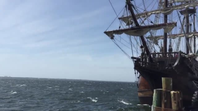 panama city, florida. el galeon makes port in panama city, florida. - slavery stock videos & royalty-free footage