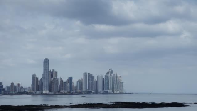 panama city skyline time lapse - panama city panama stock videos & royalty-free footage