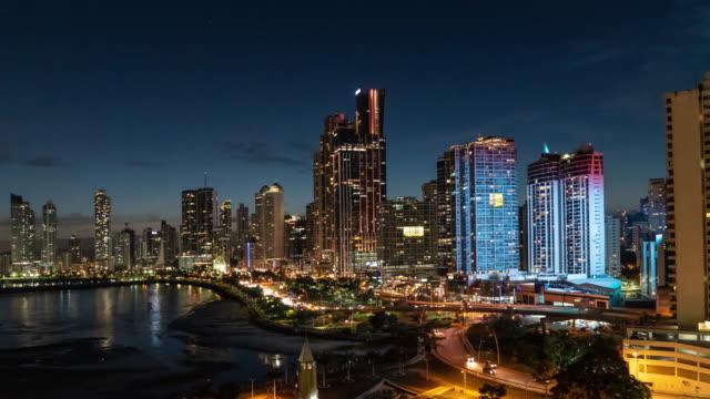 パナマシティタイムラプス - パナマ点の映像素材/bロール
