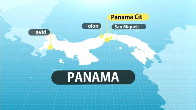 panama map - panama city panama stock videos & royalty-free footage
