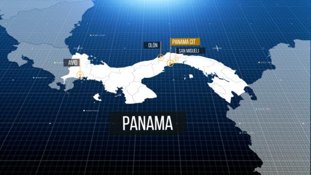 stockvideo's en b-roll-footage met kaart van panama - panama