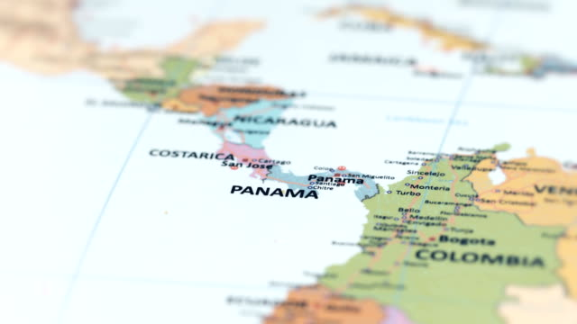 north america panama on world map - america latina video stock e b–roll