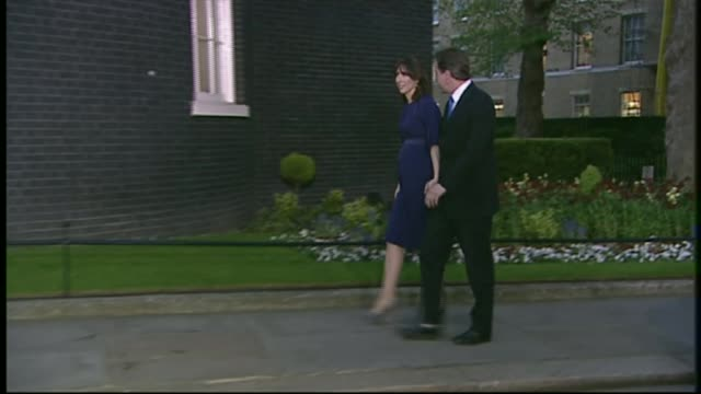Calls for David Cameron to resign LIB Downing Street PHOTOGRAPHY*** David Cameron and wife Samantha Cameron along to No10 after he becomes Prime...