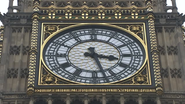 David Cameron faces MPs amid tax affairs row Close shot face of Big Ben clock tower SHOT of minute hand moving on Big Ben