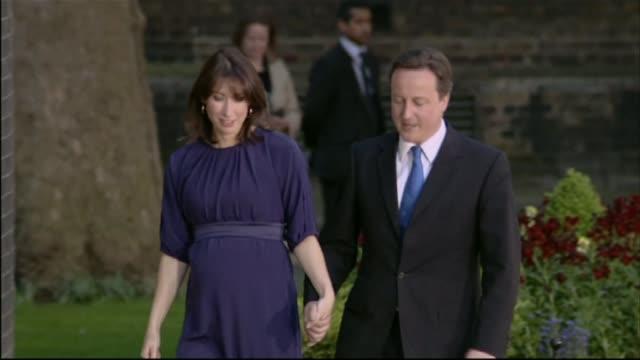 David Cameron publishes six years of tax returns LIB / Downing Street PHOTOGRAPHY*** David Cameron MP and wife Samantha Cameron walking handinhand...
