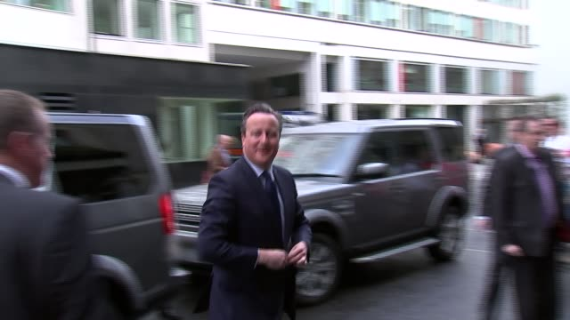 David Cameron publishes six years of tax returns T09041605 / TX Grand Connaught Rooms EXT David Cameron MP out of car and arriving at hotel for...