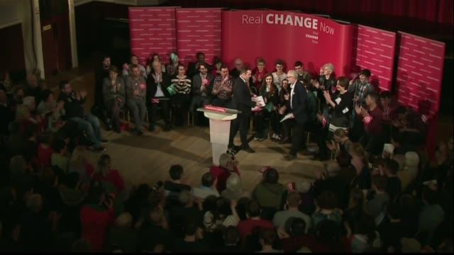 Jeremy Corbyn interview ***BEWARE Jeremy Corbyn applauded at conference