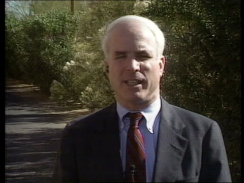 arizona: tucson: intvw senator john mccain - john mccain stock videos & royalty-free footage