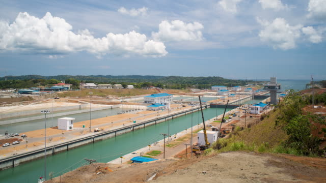 Panama, the new extension of the Panama canal on the Atlantic side at Colon