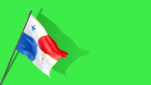 パナマの旗の上昇 - パナマ点の映像素材/bロール