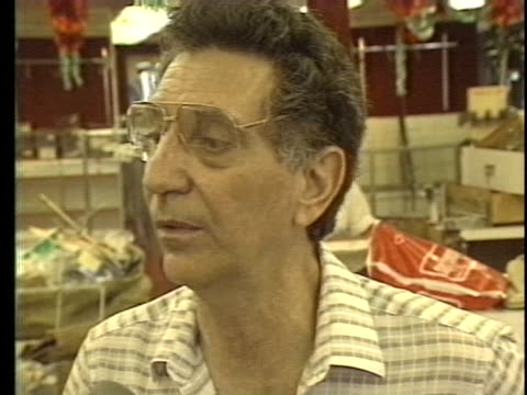 panamanian store owner victor cohen says that because of the war his insurance company will not help him after his store was looted - (war or terrorism or election or government or illness or news event or speech or politics or politician or conflict or military or extreme weather or business or economy) and not usa video stock e b–roll