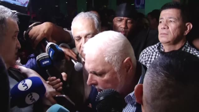 panama's former president ricardo martinelli walks free after a panama court acquitted him on charges of political espionage and misappropriation of... - acquittal stock videos and b-roll footage