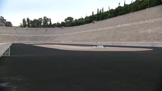 panathenaic stadium in athens - ancient stock videos & royalty-free footage