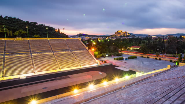 panathenaic stadium - parthenon athens stock videos and b-roll footage
