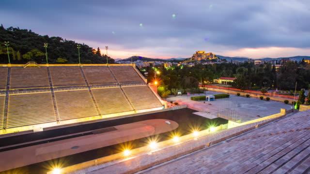 panathenaic stadium - acropolis athens stock videos and b-roll footage