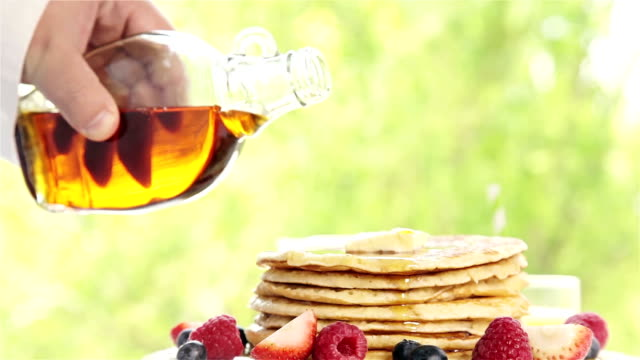 pancakes - syrup stock videos & royalty-free footage