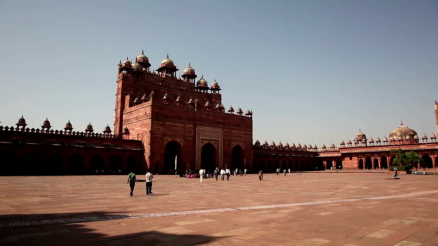 panch mahal palace in fatehpur sikri, india - palace stock videos & royalty-free footage