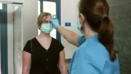 Pandemic control measures in Hospital entrance