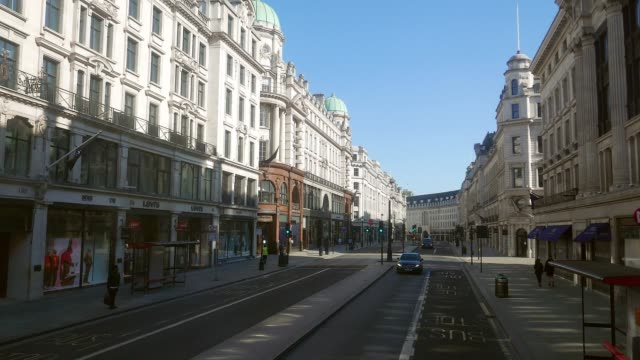 pandemic coronavirus london uk - high street stock videos & royalty-free footage