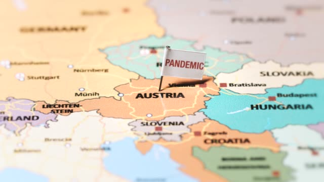 pandemic flag on austria - traditionally austrian stock videos & royalty-free footage