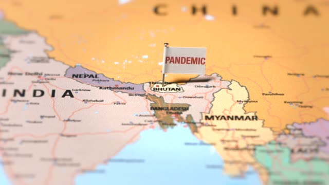 pandemic flag on bhutan - flag of bangladesh stock videos & royalty-free footage