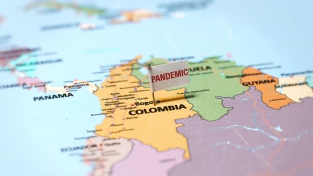 コロンビアのパンデミック旗 - 地理的地域 国点の映像素材/bロール