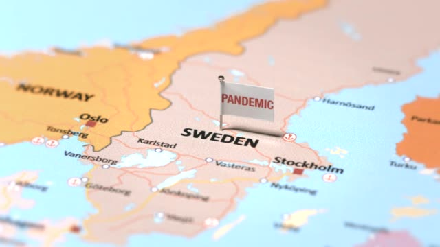 pandemic flag on sweden - positioning stock videos & royalty-free footage