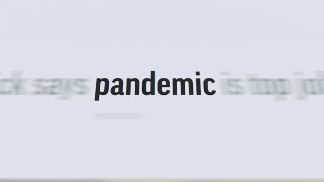 記事とテキストのパンデミック - 記事点の映像素材/bロール