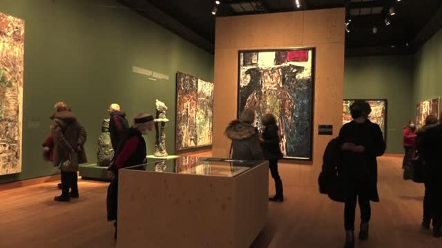 "pandemic-weary montrealers rejoice as a local fine arts museum reopens after being shuttered for months, telling afp it ""feels so good"" to get some... - montréal stock videos & royalty-free footage"