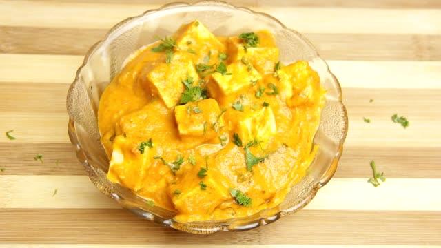 paneer butter masala rezepte - high dynamic range imaging stock-videos und b-roll-filmmaterial
