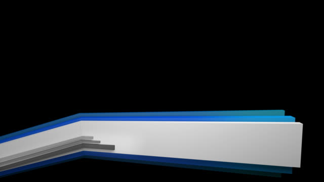 3 D panel Lower Third-Blue (Full HD