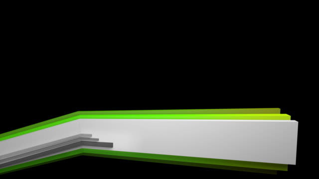 3 D panel Lower Third-verde (Full HD