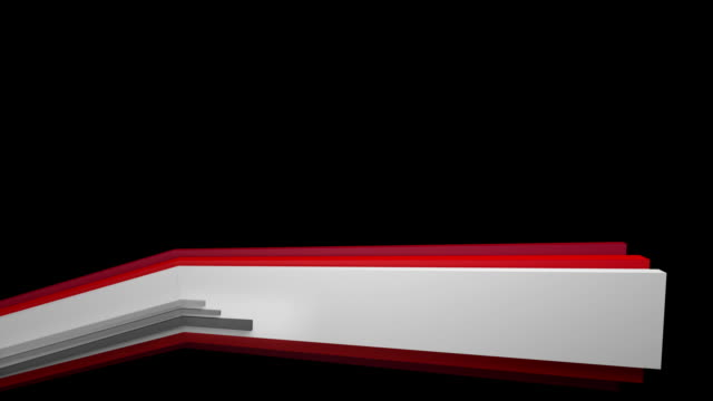 3 D panel Lower Third-Red (Full HD