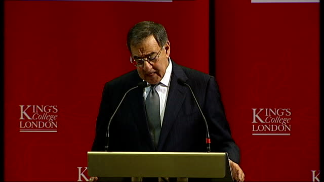 panetta speech at king's college london despite our significant gains against alqaeda we continue to face the threat of terrorism alqaeda affiliates... - north pacific stock videos & royalty-free footage