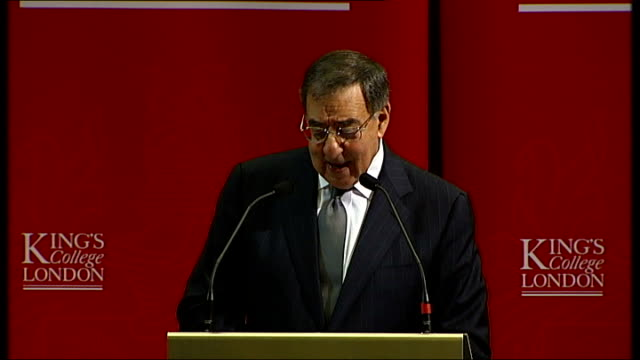 panetta speech at king's college london that's why i have made building stronger alliances and partnerships my top priority as secretary of defense... - bol stock videos & royalty-free footage