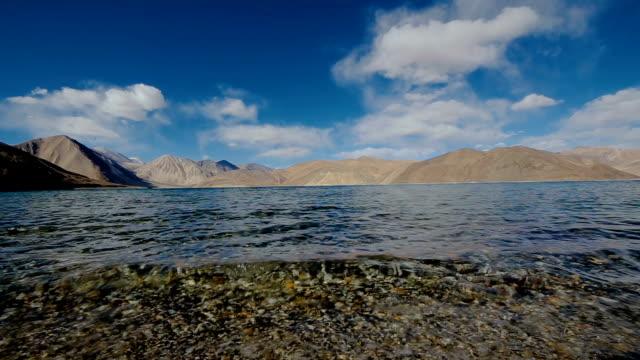 Pangong Lake with mountain , Ladakh, North India