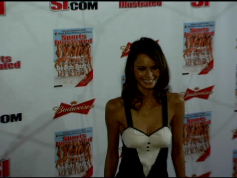 pania rose at the 2006 sports illustrated swimsuit issue photocall at crobar in new york new york on february 14 2006 - sports illustrated swimsuit issue stock videos & royalty-free footage