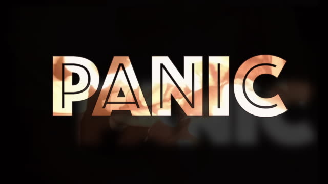 panic 3d shaking computer graphic text - chaos stock videos & royalty-free footage
