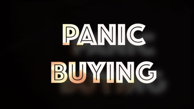 panic buying covid19 computer graphic - chaos stock videos & royalty-free footage