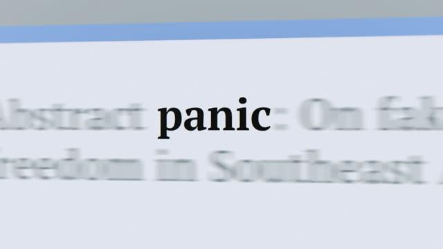 記事とテキストのパニック - 記事点の映像素材/bロール