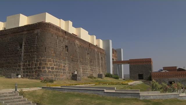 Panleft jadhavgarh fort exterior pune maharashtra