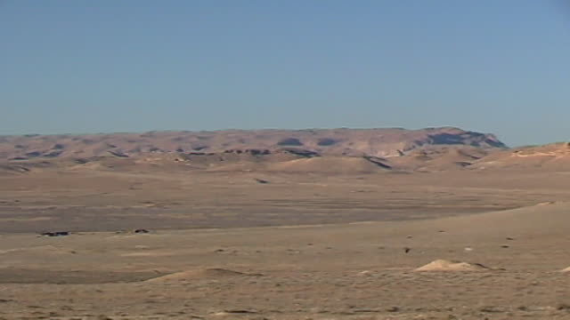 panleft view of arid desert hilly landscape of the orontes valley - dry stock videos & royalty-free footage