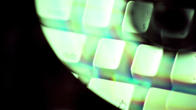 Panned keyboard reflected on CD-ROM