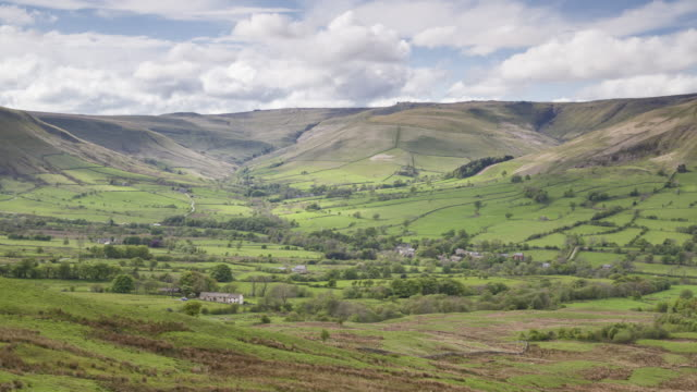 Panned TL of Edale in the Peak District national park, UK.