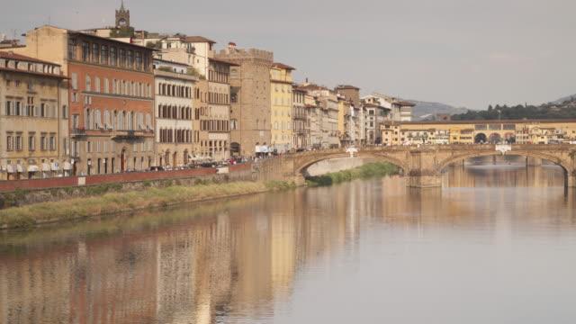 stockvideo's en b-roll-footage met panned tl of ponte santa trinita in florence, italy. - ponte
